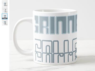 Grinnell Mug mug design merchandise design product design branding graphic design