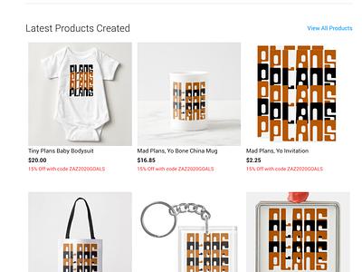 PlansPlansPlans Merch product designer retro font retro design merchandise design logo branding graphic design product design brand design