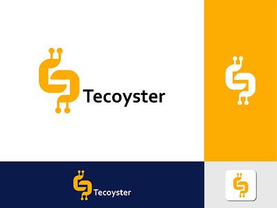 New ( Tecoyster ) logo simple graphic design illustration emonahmed543 design branding unique creative logonish logomaker logoroom logonew logo logodesign
