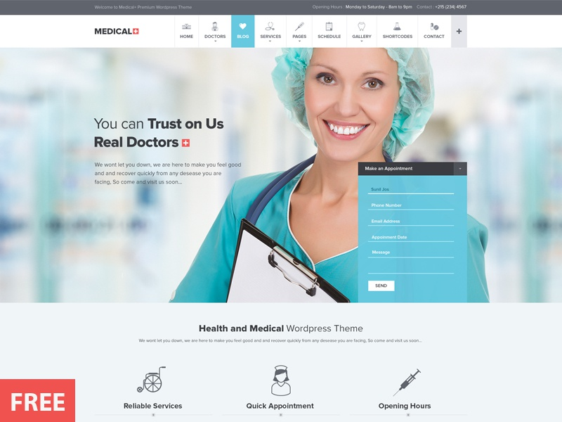 Medical WP theme freebies free banner free hero image hero banner free psd banner security low directory event