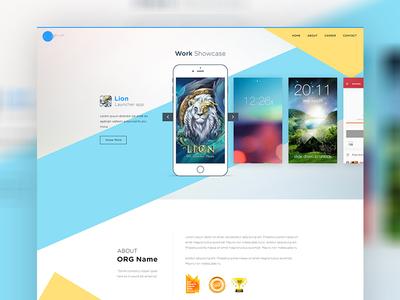 Application homepage design