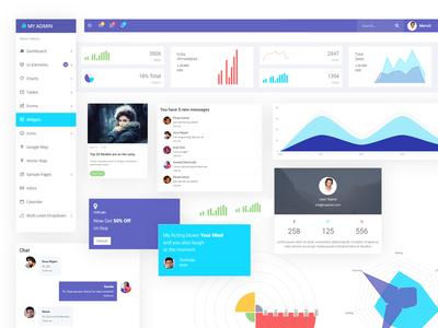 Myadmin - Widgets ( Responsive web app UI kit )