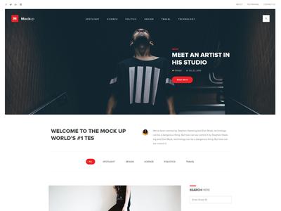 Mockup -homepage