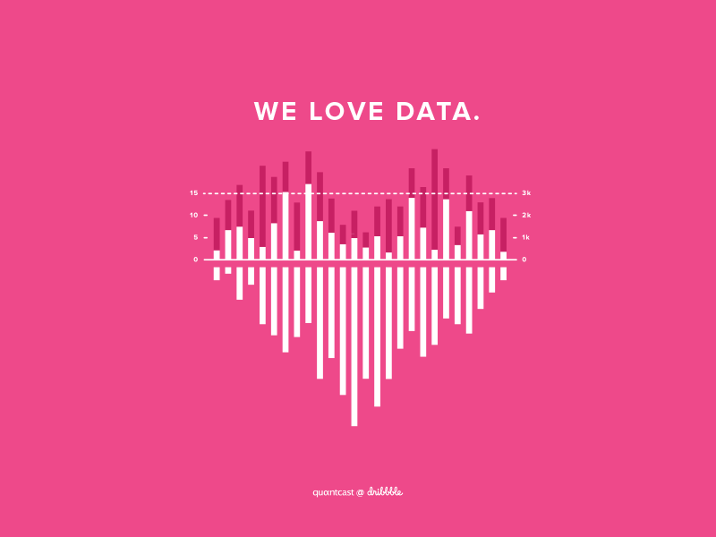 We Love Data graph data visualization illustration vector debut