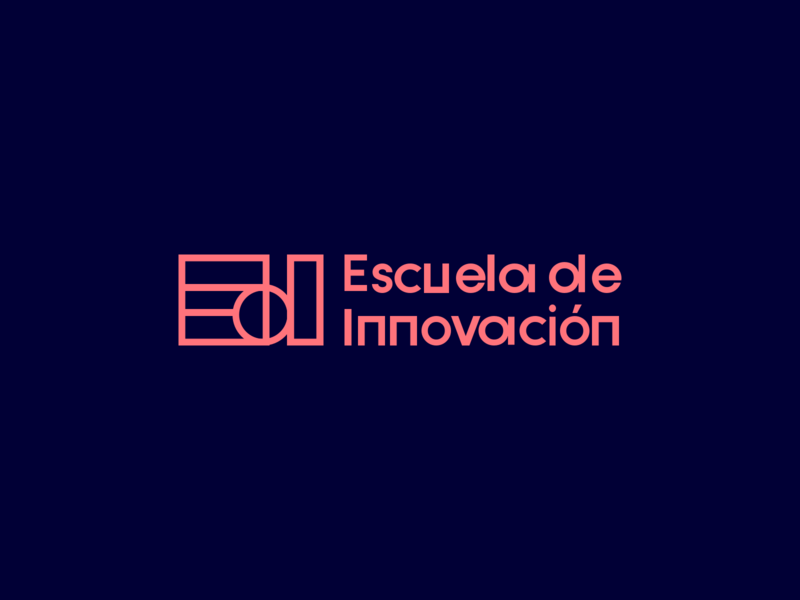 Escuela de Innovación — New brand iterations strategic design branding design strategy color typography brand experience creative thinking logo brand