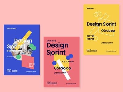 Posters for Escuela de Innovacion creative graphic design graphic print ux strategic design pattern creative thinking brand design system illustration strategy design brand experience