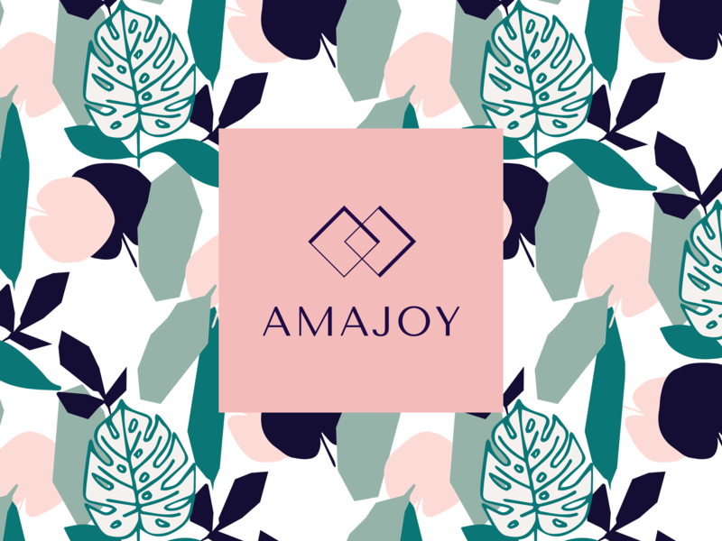 Amajoy Logo Design jewelry typography design illustration logo brand