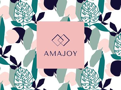 Amajoy Logo Design jewelry typography design illustration logo brand