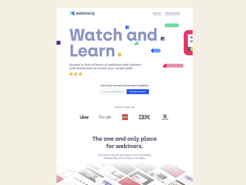 Webinarly's new landing page explorations technology vector illustration saas product ui  ux landing page website webinar