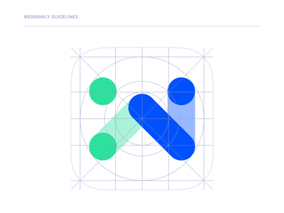 Design system and brand guideline for Webinarly, Inc. app webinar website guidelines color palette brand logo atomic design design system