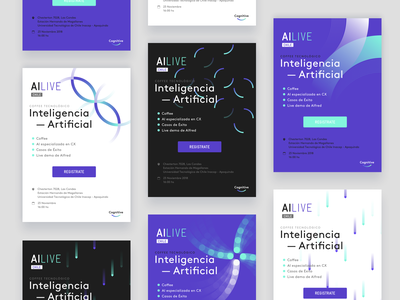 Email invitations for AI Talks pattern creative thinking thinking creative color brand experience experience digital invite email ai vector illustration branding ui typography design system design logo brand