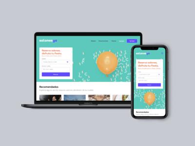 Desktop and mobile home screen
