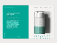 Clean and minimal web design aloe vera project