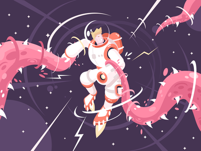 REbound a kit8 Astronaut flat vector illustration illustrator flat vector rebound