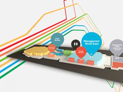 3D Interactive Map mobile 3d interaction design interaction