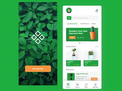PlantShop Mobile Apps Design uiuxdesign mobileapps plants uiux ux app