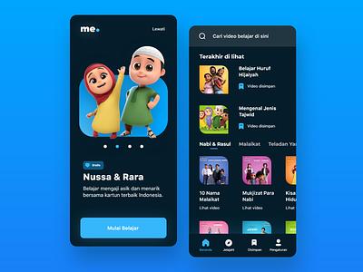 Kids Learning Mobile Apps Design inspiration anime animation uiuxdesign uiux mobileapps ux app ui