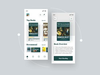 Classic Fiction Book - Mobile Apps Design outcrowd tubik fireart halolabs orely odama plainthing vektora owwstudio unique classic book ui uiuxdesign uiux mobileapps ux app