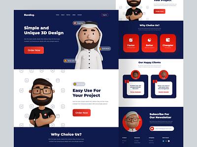 Blending Website - Landing Page blender 3d webdesign craftwork piqo plainthing orizon offspace halolab odama owwstudio vektora cool website uiuxdesign uiux app ux