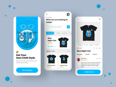 Fashion Store Apps - Odama Design Challenge clear clean fresh blue ecommerce fashion illustration ui mobileapps uiuxdesign uiux app ux odamastudio odama