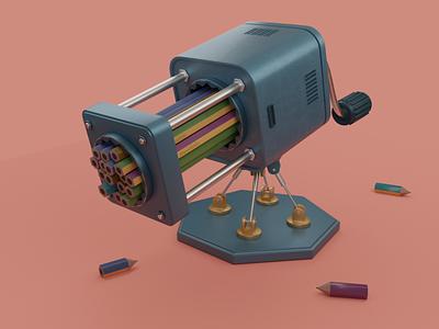 mechanical sharpener app icon illustration design branding