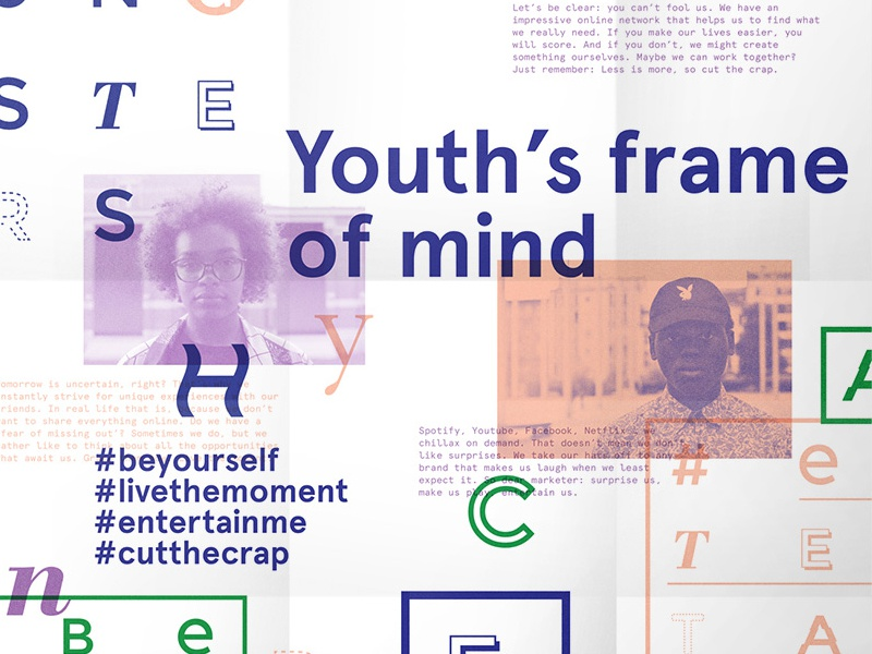 Youth - Give Me More documentary typography poster people arty marketing youth