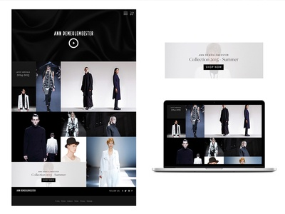 Webshop concept modern clean art fashion webshop