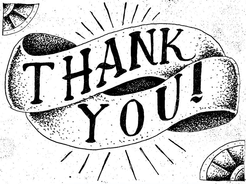 thank you by adam danielson dribbble