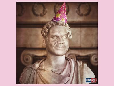 Happy Birthday Shaq photoshop birthday hat party shaquille shaq lakers basketball