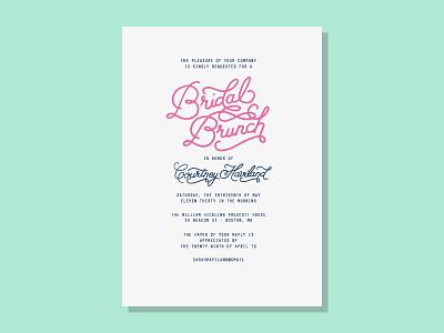 Bridal Brunch Draft handlettering typography bridal shower bride brunch mimosas wedding
