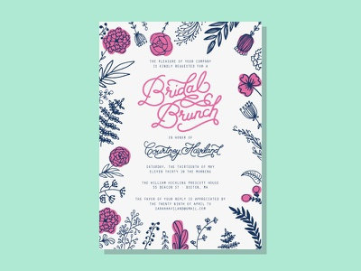 Bridal Brunch Draft v02 handlettering typography bridal shower bride brunch mimosas wedding