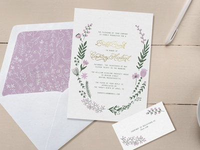 Bridal Brunch Produced handlettering typography bridal shower bride brunch mimosas wedding