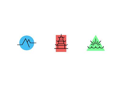 Janji Nepal Icons pokhara ghandruk kathmandu nepal illustration icons running janji