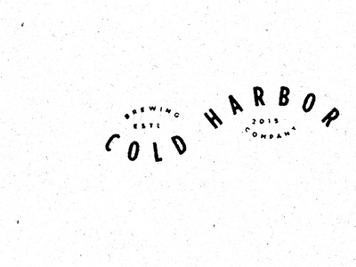 Cold Harbor Brewing Company Stamp type typogrpahy new england massachusetts brewing river craft beer cold harbor boston