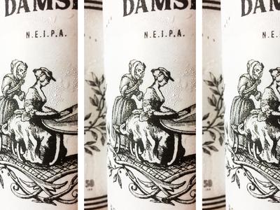 Cold Harbor Brewing Damsel NEIPA skull typography new england packaging illustration craft beer beer boston
