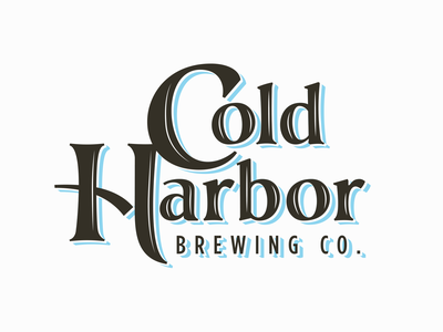 Cold Harbor Brewing Co ipa neipa massachusetts identity logo typography brewing beer craft beer boston