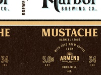 Mustache Stout Cold Harbor Brewing