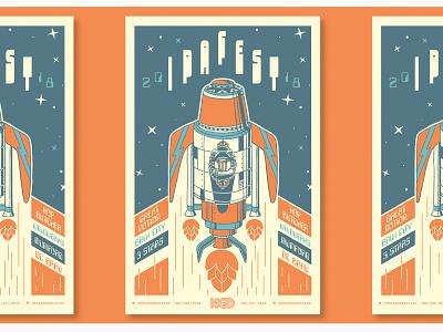 BeerAdvocate IPA Fest Poster craft ipa typography branding vector illustration beer massachusetts boston