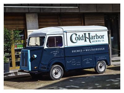 Cold Harbor Truck Design westborough typography logo craft ipa branding beer massachusetts boston cargo van
