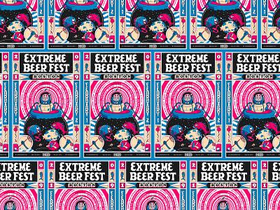 BeerAdvocate Extreme Beer Fest Poster cool stuff submarine fisherman fish craft typography branding massachusetts beer illustration boston