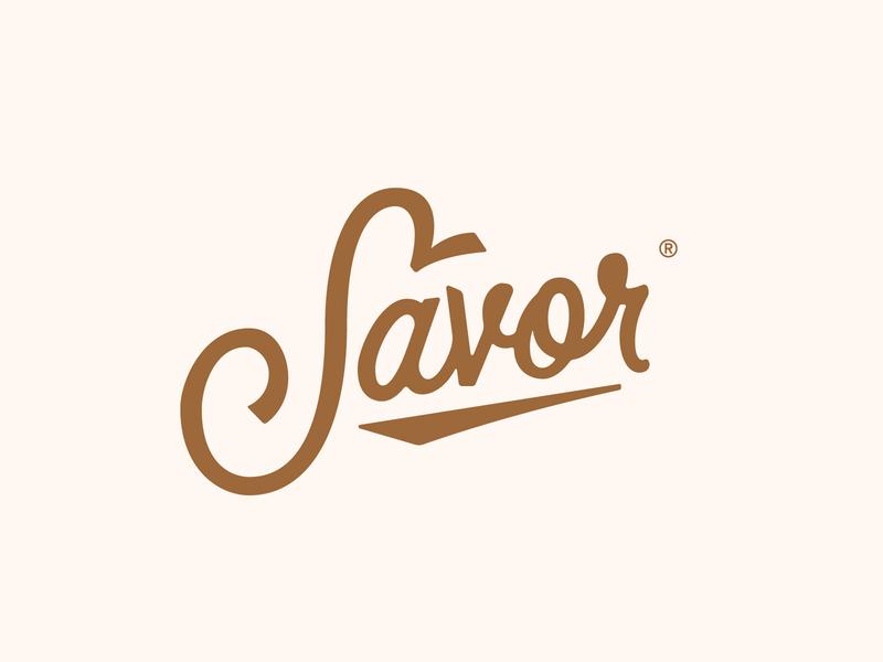Savor vector branding food illustration typography logo massachusetts boston