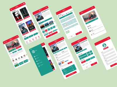 Pito-Online Movie Ticket Booking App android cinema film online ticketing application logo illustration design ux movie app ui