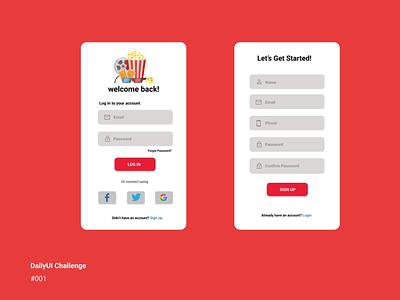 Daily UI Challenge 001 (Sign up flow) ux app dailyui challenge dailyui ui