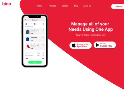 Landing page for Mobile app dailyui application app android ux ui
