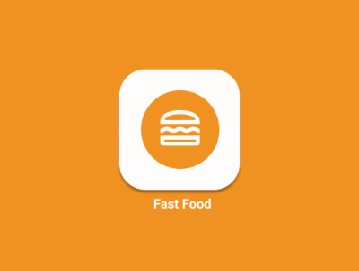 LOGO DESIGN-FASTFOOD logo illustration design dailyui application app android ux ui