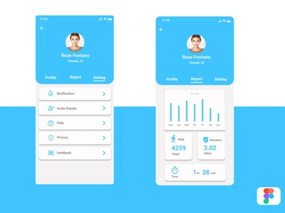 User Profile profile user profile user design dailyui application app android ux ui
