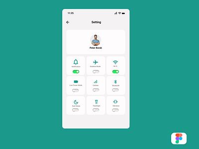 App Setting toronto canada google illustration design dailyui application app android ux ui