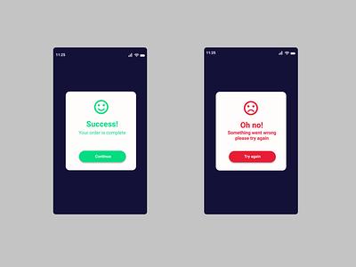 Flash Message ui illustration design dailyui application app android ux