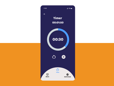 Countdown Timer alarm timer user interface uiux mobile app application app android ux ui