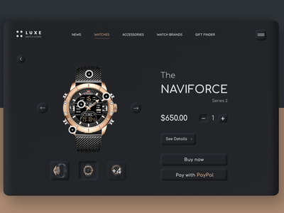 WATCH / Online store ecommerceshop ecommercedesign ecommerce mockup neumorphism product fashion brand e-commerce online store web ui website design website watch ui trend user experience user interface web design web uiux ux ui